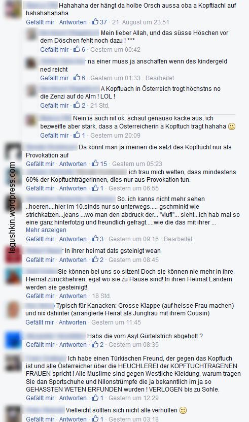 """""""Döschen, anschaffen, Provokation, Kanacken, Muselschlampe, Gürtelstrich, Provokation"""""""